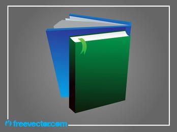 Libros 3D con cubierta en blanco