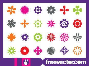 Pacote de ícones de flor floral