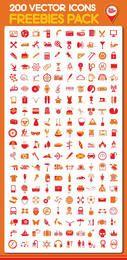 Conjunto de 200 iconos fantásticos.