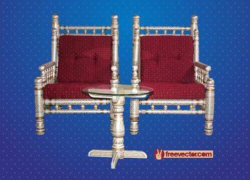 Antike dekorative Möbel