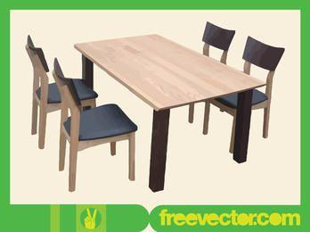Móveis de jantar feitos de madeira