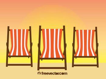Sillas de playa de relajación