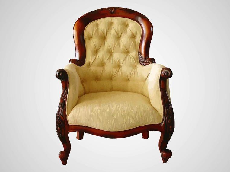Cadeira Decorativa Confortável Antiga