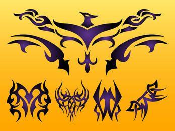 Fénix tribal creativo y tatuajes
