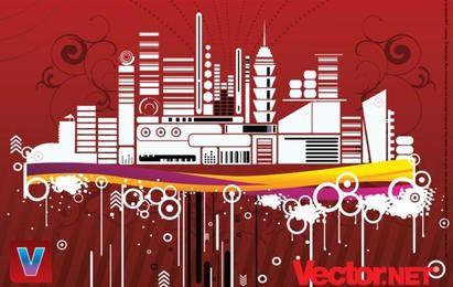 Diseño urbano del vector de la ciudad