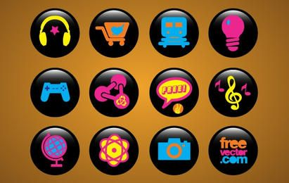 Pack de botones de iconos