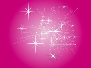 Abstract Rays with Starry Pinkish Background