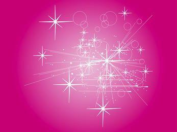 Rayos abstractos con fondo estrellado rosáceo