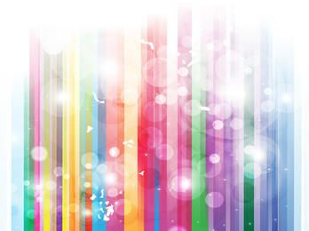 Stripy Rainbow Background with Bubbles