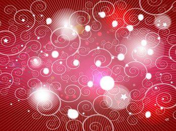 Fondo rojo con remolinos y luces