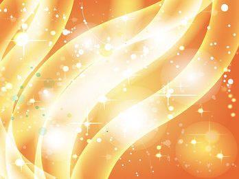 Wavy Stripes Golden Sparkling Background