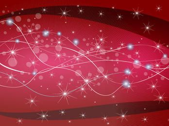 Sparkling Red Background with Wavy Lines