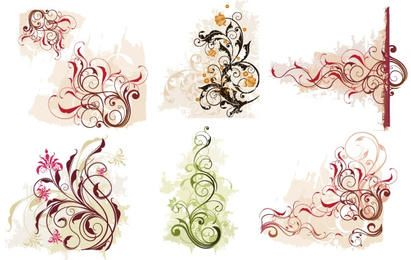 Swirl Flower Vector 1