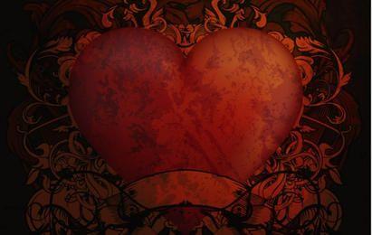 Weinlese-Herz-Hintergründe 2