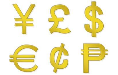 Golden Money Symbols