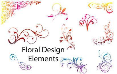 Blumenmuster-Elemente