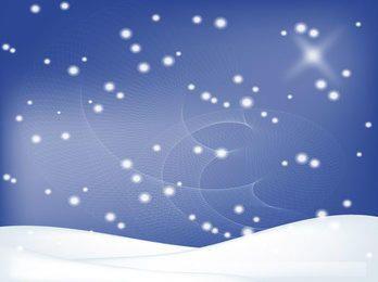 Fundo de inverno com paisagem de neve