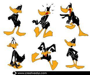 Pacote de desenhos animados Funky Daffy Duck