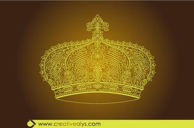 Coroa de ouro caligráfica criativa