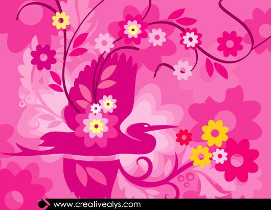 Beautiful Pinkish Flourish Artwork
