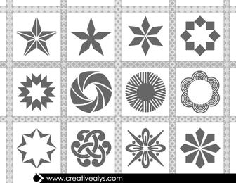 Pack de patrones elípticos sin costura
