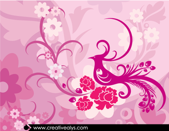 Creative Lovely Floral Background