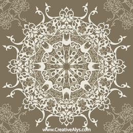 Retro Elliptical Seamless Pattern