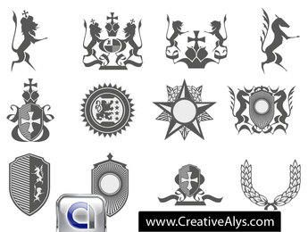 Heraldic Logo Element Pack
