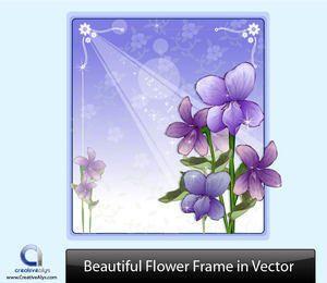 Marco de flor morada con adornos