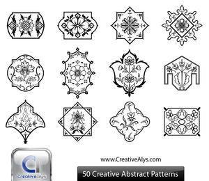 Conjunto de enfeite florístico abstrato preto & branco