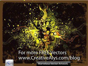 Marvelous Grungy Swirls & Splatters Background