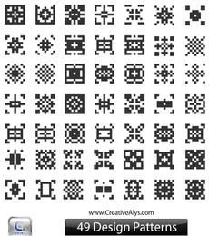 Black & White Abstract QR Pattern Set