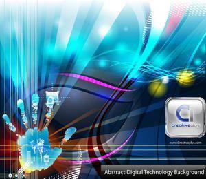 Handdruck-Noten-Technologie-Zusammenfassungs-Hintergrund