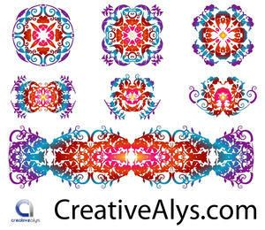 Creative Floristic Pattern Set