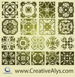 Classic Antique Florist Pattern Set