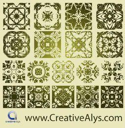 Conjunto de padrão de florista antigo clássico