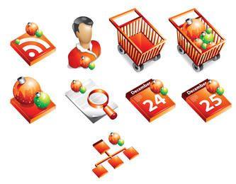 Negócio temático do Xmas 3D, estacionário & bloco do ícone da correia fotorreceptora