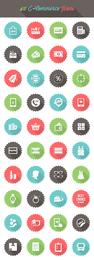 Mindestens 40 E-Commerce-Symbolkreise