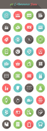 Mínimo 40 Ecommerce Icon Circles