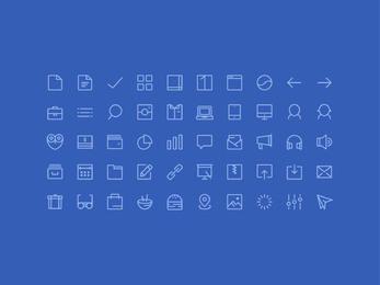 Line Art 50 Glyph Icons