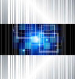 High-Tech-Quadrate zeichnet Hintergrund
