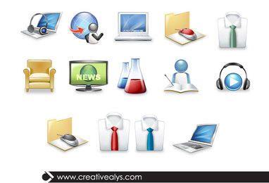 Iconos 3D de Ciencia y Tecnología