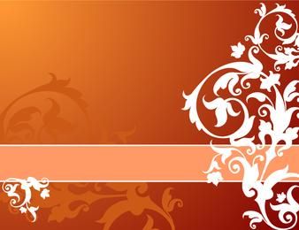Design de capa de decoração floral