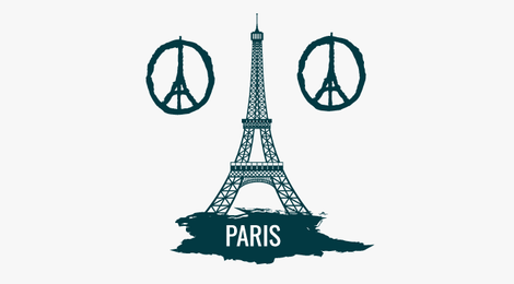 Torre Eiffel símbolo de melocotón