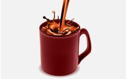 Taza de café con café de chocolate