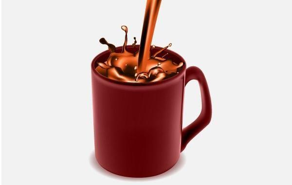 Coffee Mug with Chocolate Coffee