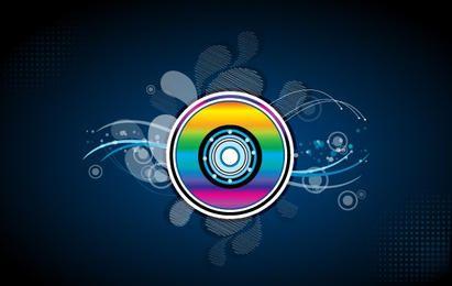 Colorido disco compacto