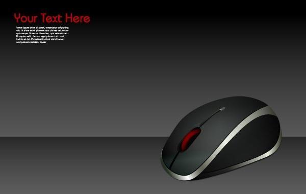 Mouse sem fio de computador
