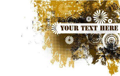 Grunge Text Banner Design