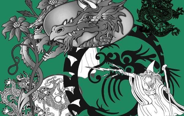 Wizard & Dragon Vectors